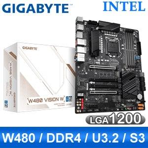 【客訂】Gigabyte 技嘉 W480 VISION W LGA1200伺服器主機板 (ATX/3年保)