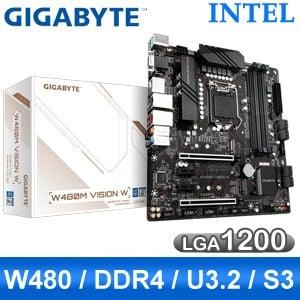 【客訂】Gigabyte 技嘉 W480M VISION W LGA1200伺服器主機板 (M-ATX/3年保)