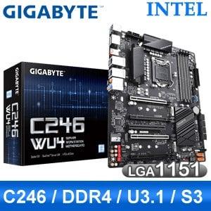 【客訂】Gigabyte 技嘉 C246 WU4 LGA1151伺服器主機板 (ATX/3年保)