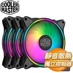 Cooler Master 酷碼 MasterFan MF120 HALO ARGB風扇(3合1附控制器)《黑》