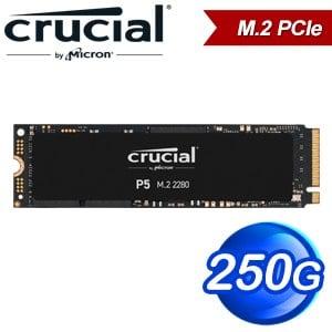 Micron 美光 Crucial P5 250G M.2 PCIe SSD固態硬碟(讀:3400M/寫:1400M)