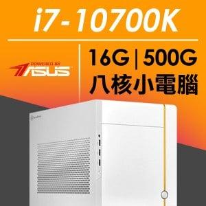 華碩SG系列【破甲尖鋒】i7-10700K八核 小型電腦(16G/500G SSD)
