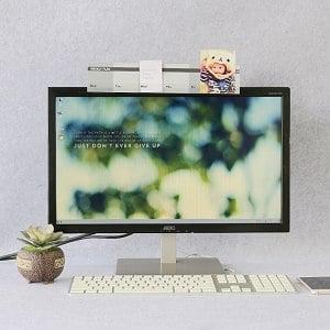 【OSHI歐士】電腦螢幕留言備忘板-週計劃(灰)2入/MEMO夾/禮物/辦公用品/便利貼留言板