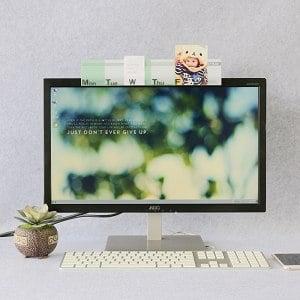 【OSHI歐士】電腦螢幕留言備忘板-週計畫(立體)-綠2入/MEMO夾/禮物/辦公用品/便利貼留言板