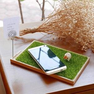 【OSHI歐士】輕草地置物盤/留言夾/收納盤/桌面整理/留言夾/療癒商品