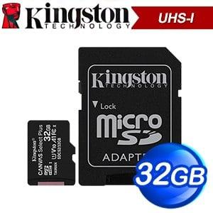 Kingston 金士頓 Canvas Select Plus 32GB MicroSDHC UHS-I 記憶卡(R100MB) SDCS2/32GB