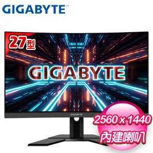Gigabyte 技嘉 G27QC 27型 2K 165Hz 1500R 曲面電競螢幕
