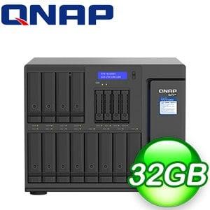 QNAP 威聯通 TVS-h1688X-W1250-32G NAS伺服器