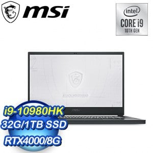 MSI 微星 WS66 10TL-453TW 15吋繪圖工作站筆電(i9-10980HK/32G/1T SSD/RTX 4000-8G/W10Pro)