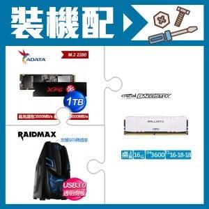 ☆香香價★ 美光 Ballistix 16G DDR4-3600 美光超頻 E-Die 桌上型記憶體《白》(X2)+威