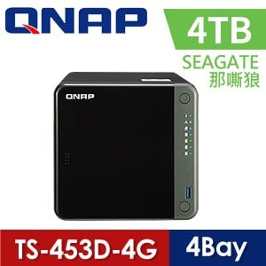 【Seagate 4TB】QNAP 威聯通 TS-453D-4G 4-Bay NAS 網路儲存伺服器