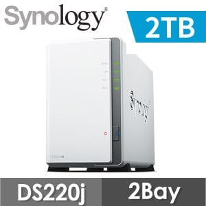【2TB 組合】Synology 群暉 DiskStation DS220j 2Bay NAS 網路儲存伺服器