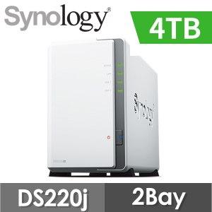 【4TB 組合】Synology 群暉 DiskStation DS220j 2Bay NAS 網路儲存伺服器