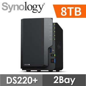 【8TB 組合】Synology 群暉 DiskStation DS220+ 2Bay NAS網路儲存伺服器