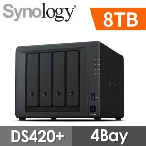 【8TB 組合】Synology 群暉 DiskStation DS420+ 4Bay NAS網路儲存伺服器