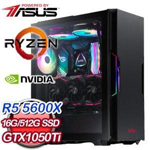 華碩系列【一人三化】AMD R5 5600X六核 GTX1050Ti 影音電腦(16G/512G SSD)