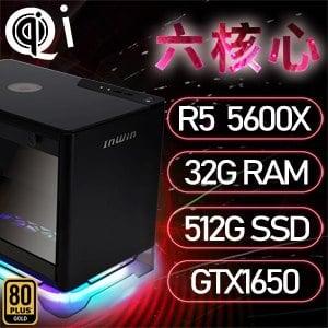 華碩A1系列【mini天哭星】AMD R5 5600X六核 GTX1650 電腦(32G/512G SSD)《A1 PLUS》