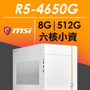微星SG系列【mini地佐星】AMD R5 4650G六核 小型電腦(8G/512G SSD)《SUGO 14》