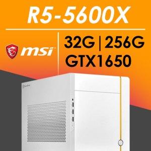 微星SG系列【mini地強星】AMD R5 5600X六核 GTX1650 電腦(32G/256G SSD)《SUGO 14》