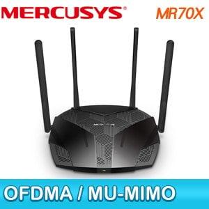 Mercusys 水星 MR70X AX1800 Gigabit 雙頻 WiFi 6 無線網路路由器(分享器)