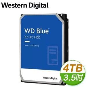WD 威騰 4TB 3.5吋 5400轉 256MB快取 SATA3 藍標硬碟(WD40EZAZ)