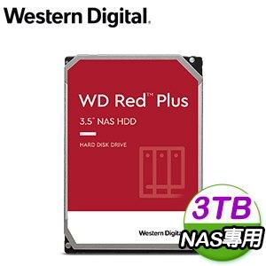 WD 威騰 3TB 3.5吋 5400轉 128M快取 Red Plus 紅標NAS硬碟(WD30EFZX)