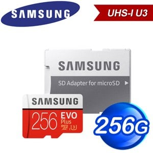 Samsung 三星 EVO Plus 256GB MicroSDXC UHS-I 記憶卡(MB-MC256HA/KR)