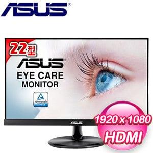 ASUS 華碩 VP229Q 22型 低藍光 不閃屏 液晶螢幕