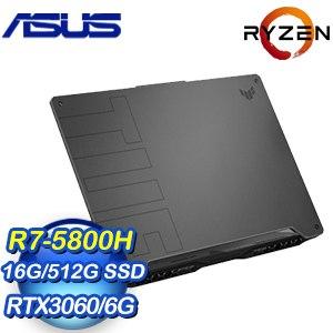 【客訂】ASUS 華碩 FA506QM-0032A5800H 15吋電競筆電《灰》(R7-5800H/16G/512G SSD/RT