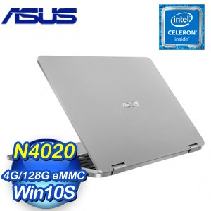 ASUS 華碩 TP401MA-0261AN4020 14吋翻轉觸控筆電《灰》(N4020/4G/128G/W10S)