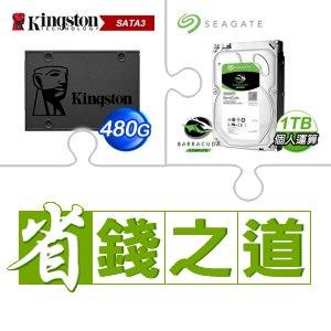 金士頓 A400 480G SSD(X5)+希捷 新梭魚 1TB硬碟(X5)