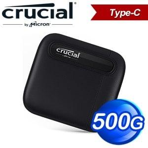 Micron 美光 Crucial X6 500G U3.2 Type C外接式SSD