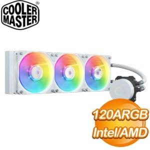 Cooler Master 酷碼 MasterLiquid ML360L V2 ARGB 水冷散熱器《白》