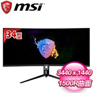 MSI 微星 Optix MAG342CQRV 34型 2K 1500R 曲面電競螢幕