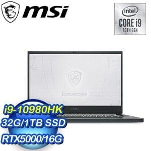 MSI 微星 WS66 10TM-489TW 15.6吋工作站筆電(i9-10980HK/32G/1TB/RTX5000/W10P)