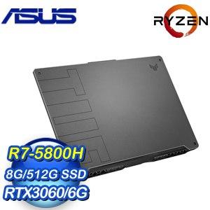 ASUS 華碩 FA706QM-0042A5800H 17.3吋電競筆電-幻影灰(R7-5800H/8G/512GB SSD/RTX 3060 6G)