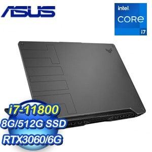 ASUS 華碩 FX506HM-0042A11800H 15.6吋電競筆電-幻影灰(i7-11800H/8G/512GB SSD/RTX 3060 6G)