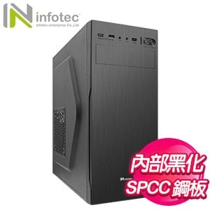 Infotec 英富達 R32 ATX電腦機殼《黑》