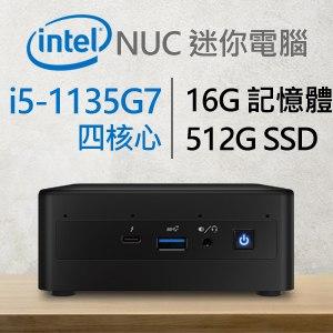 Intel系列【mini戰機】i5-1135G7四核電腦(16G/512G SSD)《RNUC11PAHi50000》