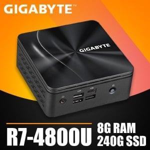 技嘉系列【mini冥河龍】R7-4800U八核 迷你電腦(8G/240G SSD)《BRR7H-4800》