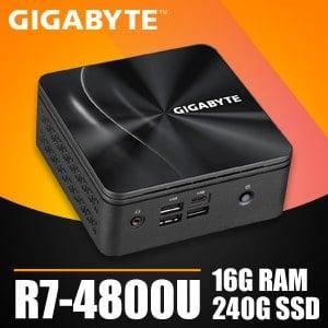 技嘉系列【mini迅猛龍】R7-4800U八核 迷你電腦(16G/240G SSD)《BRR7H-4800》