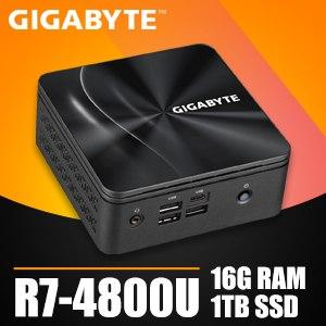 技嘉系列【mini雷龍】R7-4800U八核 迷你電腦(16G/1T SSD)《BRR7H-4800》