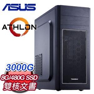 華碩系列【天堂8號】AMD 3000G雙核 文書電腦(8G/480G SSD)