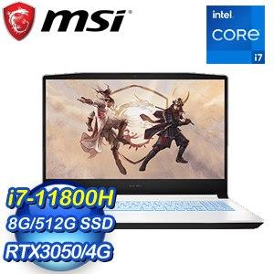 MSI 微星 Sword 15 A11UC-073TW 15.6吋電競筆電(i7-11800H/8G/RTX3050-4G/512G SSD/Win10)
