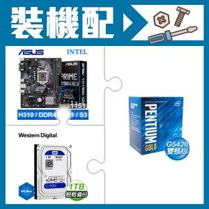 G5420+華碩 H310M-K 主機板+威騰 藍標 1TB 硬碟