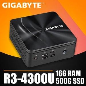 技嘉系列【mini大白鯊】R3-4300U四核 迷你電腦(16G/500G SSD)《BRR3H-4300》