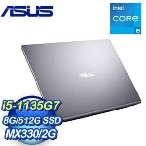 ASUS 華碩 X415EP-0071G1135G7 星空灰 14吋輕薄筆電(i5-1135G7/8G/512G SSD/MX330)