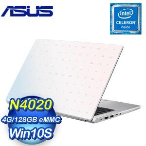 ASUS 華碩 E410MA-0631WN4020 夢幻白 14吋文書筆電(N4020/4G/128G EMMC)