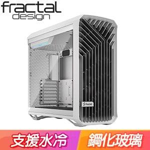 Fractal Design Torrent TG Clear 淺玻璃透側 E-ATX機殼《白》FD-C-TOR1A-03