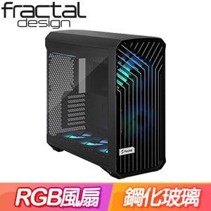 Fractal Design Torrent RGB TG Light 淺玻璃透側 E-ATX機殼《黑》FD-C-TOR1A-04